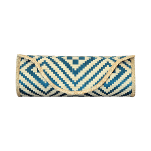 Bamboo Skin Maya Clutch - Natural Green