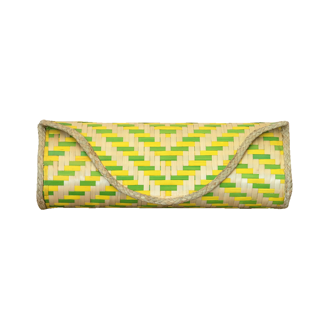 Bamboo Skin Maya Clutch - Lime Yellow