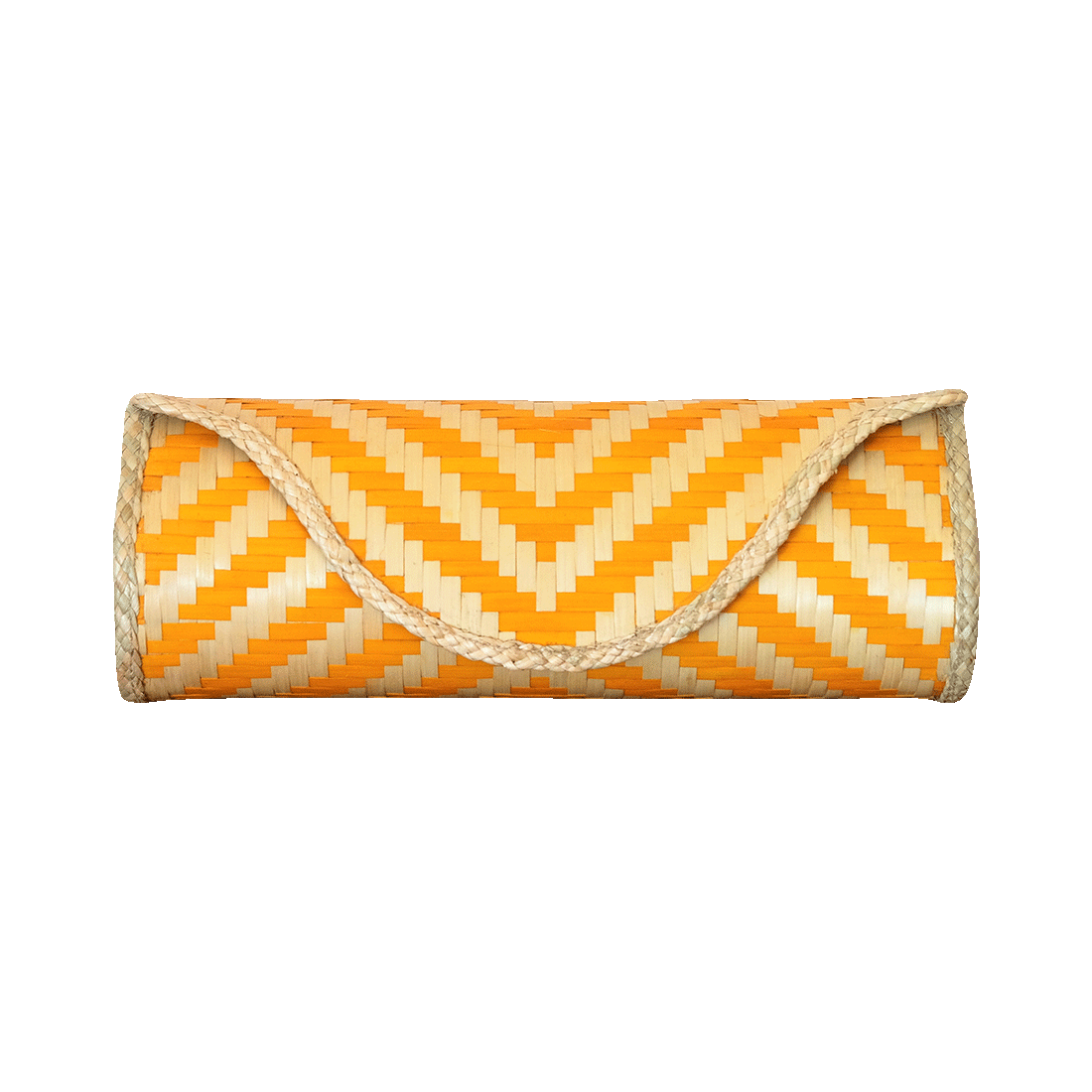 Bamboo Skin Maya Clutch - Natural Yellow