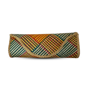 Sinamay Maya Clutch - Sinamay Green Orange