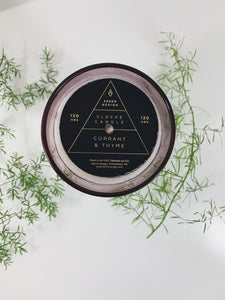 Currant + Thyme Cloche Candle
