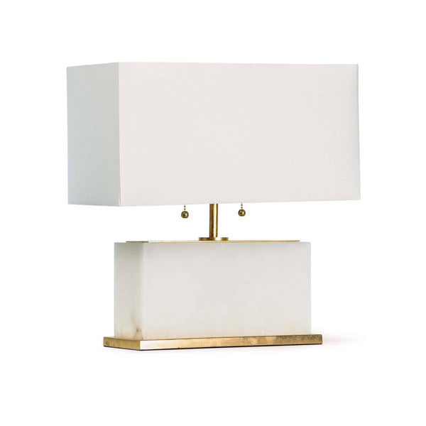 Horizontal Alabaster Table Lamp