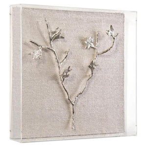 Silver Branches Shadow Box