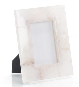 White Agate Picture Frame- 4x6
