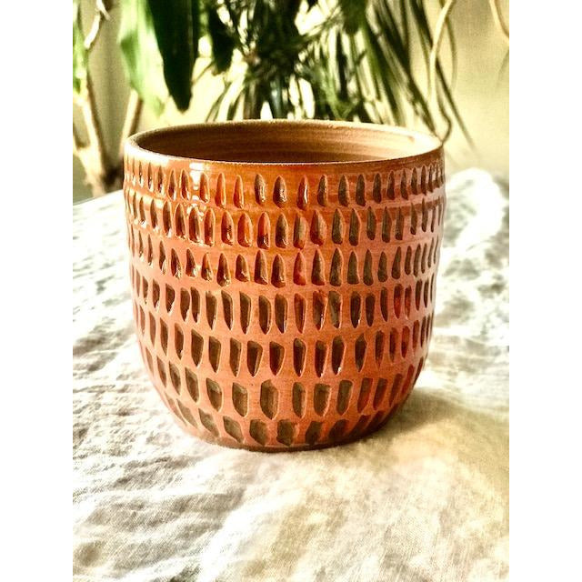 Hey Moon Etched Pink Planter