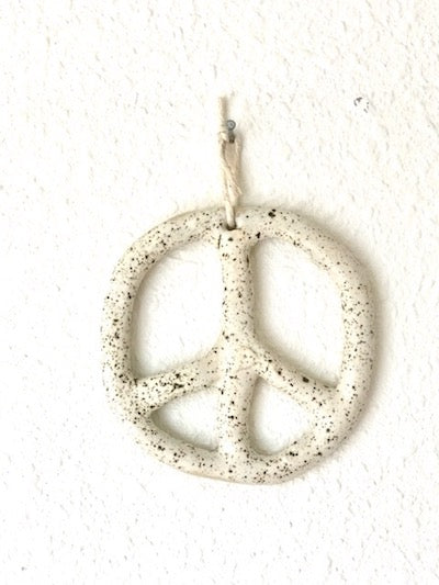 Hey Moon Peace Ornament in Speckle