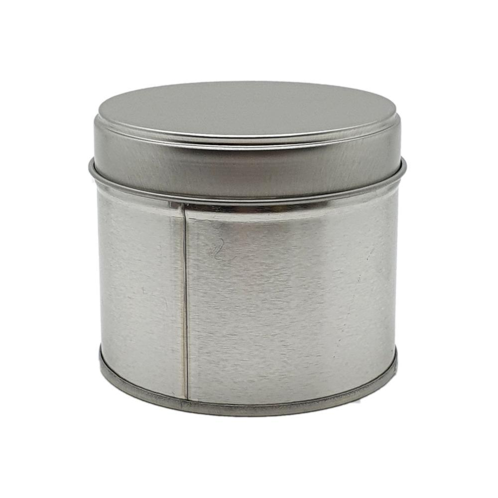Large Tin Candle Silver | 200g | Own Brand - White Label Sample