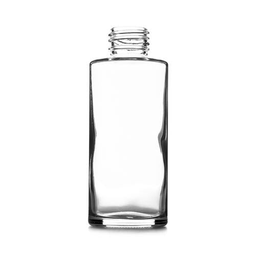 100ml Clear Round Glass Bottle - Box of 96