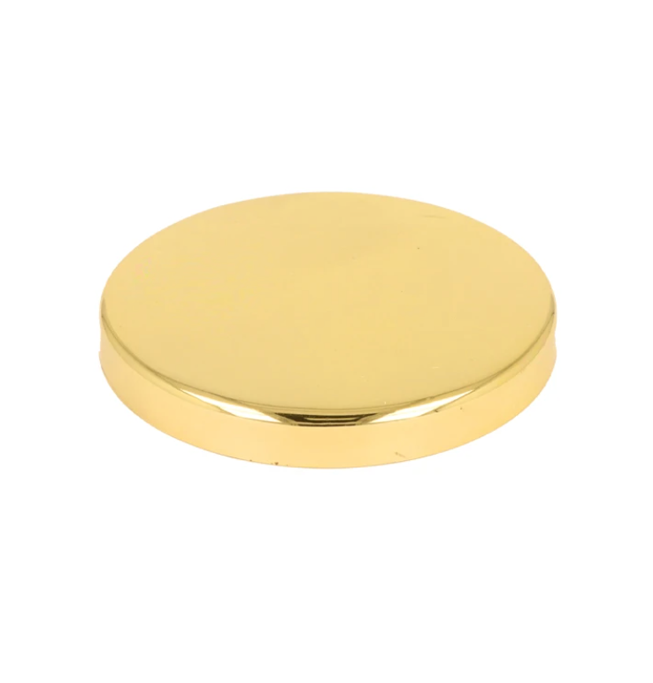 Karen 30cl Gold Metal Lid - Pack Of 24 | Lucy 30cl gold candle lid | wholesale candle supplies | candle lid | whaxwholesale.com