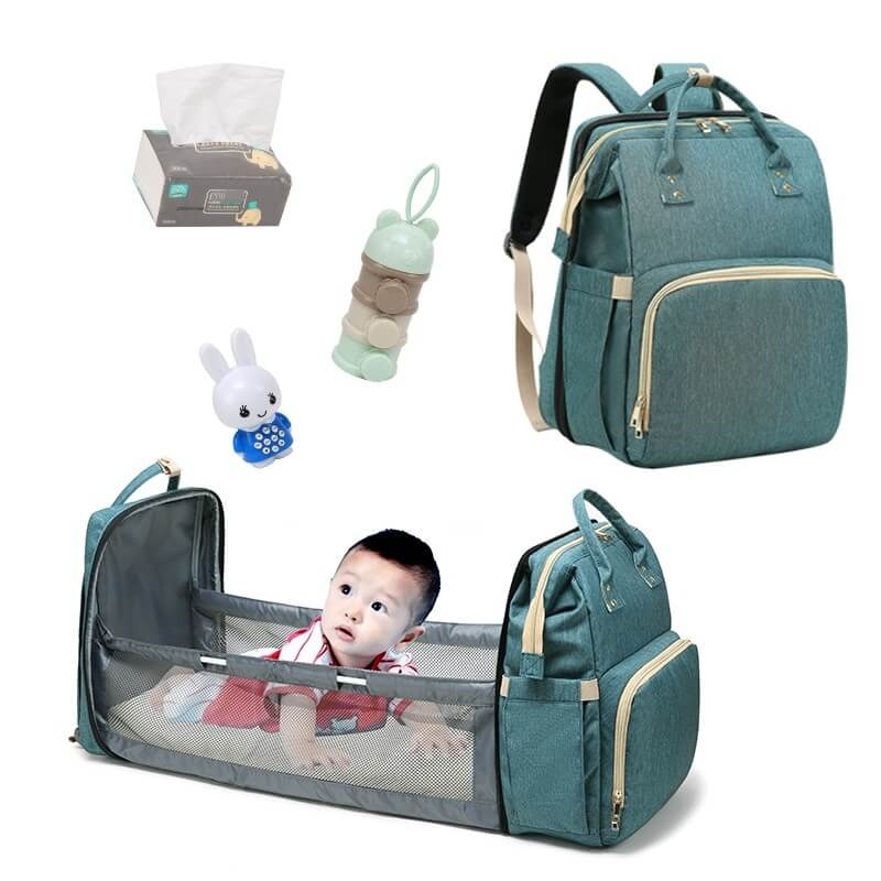 Premium 5-in-1 Bassinet Crib Diaper Bag