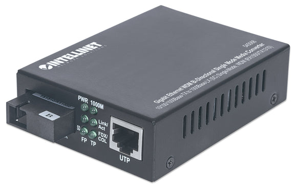 Convertisseur de support Gigabit Ethernet WDM bidirectionnel monomode Image 1
