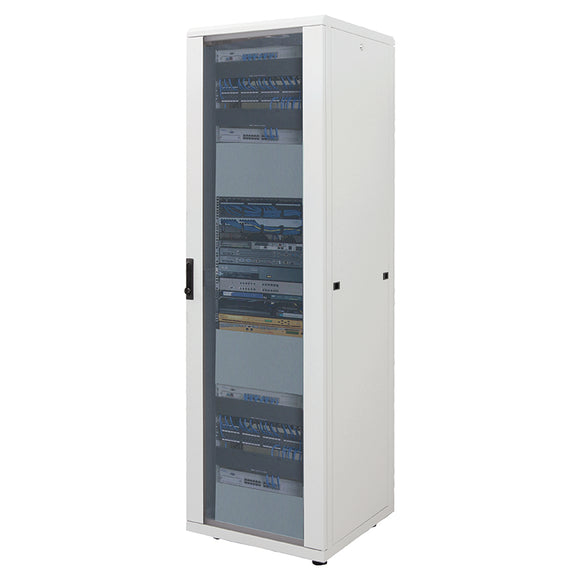 42U 800x800mm 19in. SILVER SERIES FLOOR-STANDING RACK & CABINET Assembled Image 1