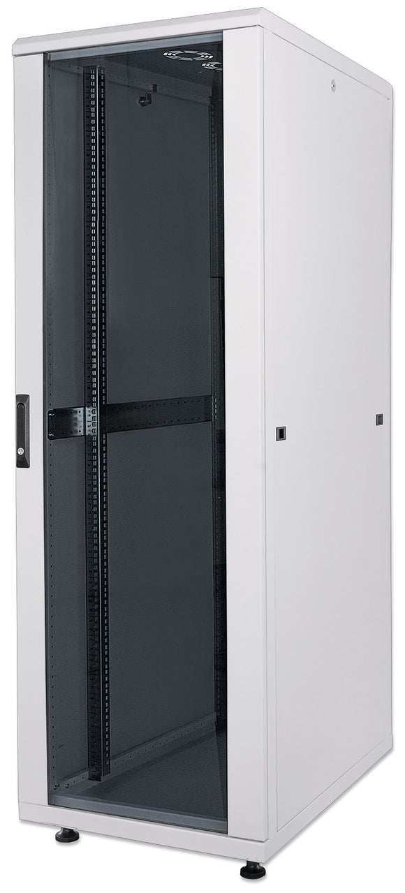 32U 600x600mm 19in. SILVER SERIES FLOOR-STANDING RACK & CABINET Assembled Image 1