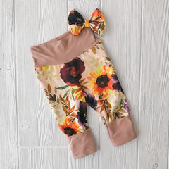 'Grow with Me' Floral Pants & Bow