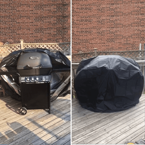 showing grill cover in action