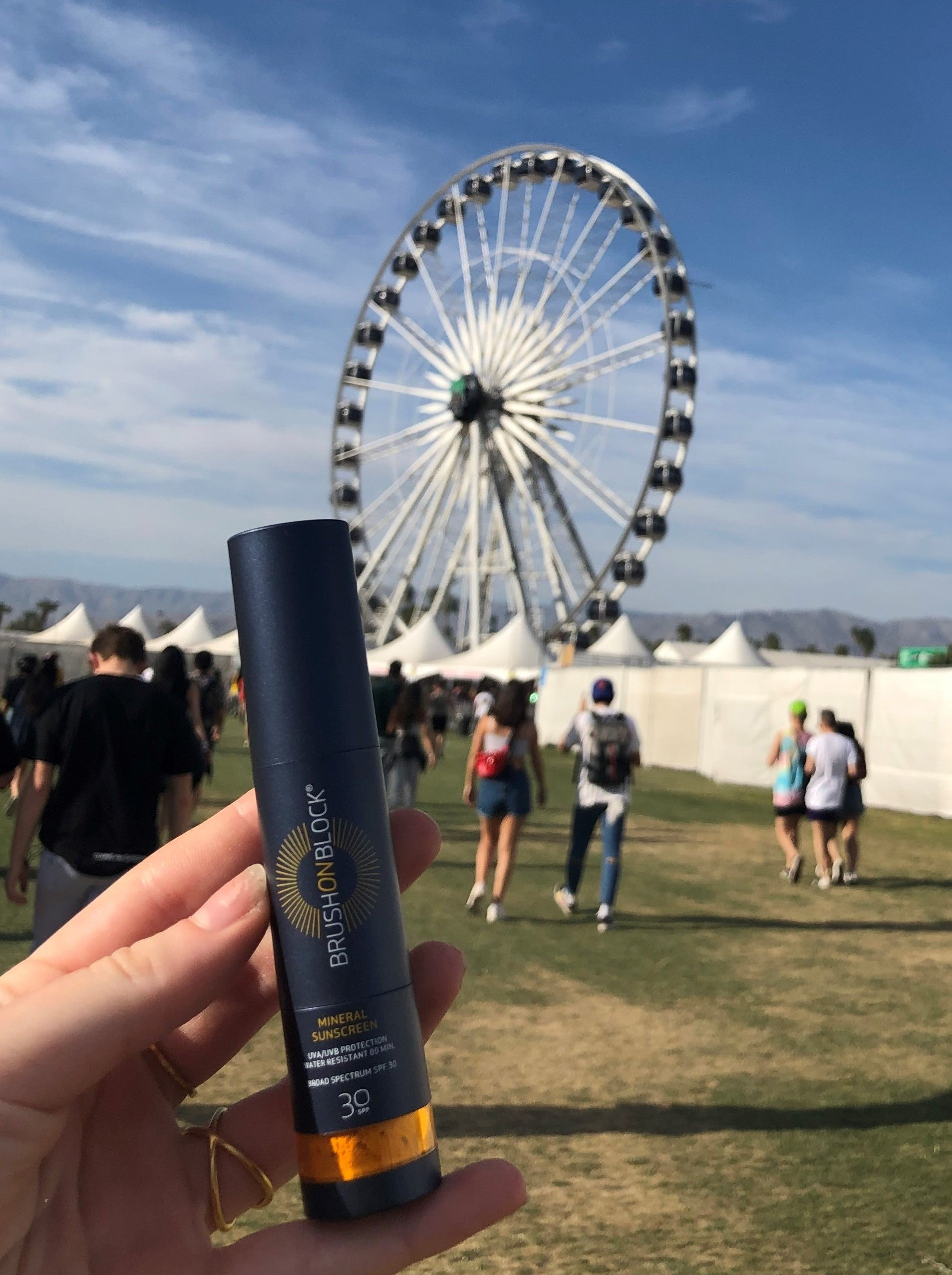 BRUSH ON BLOCK® at Coachella Music Festival