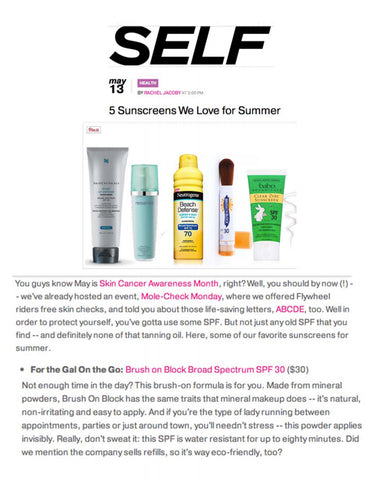Brush On Block - Self Magazine