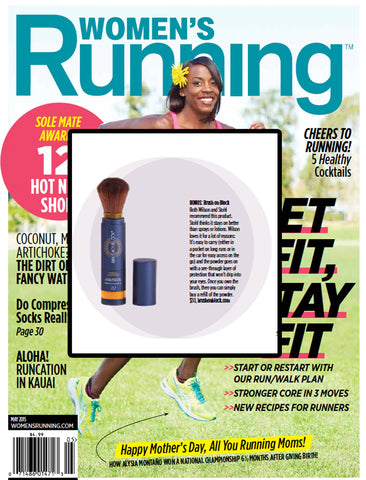 Women's running article magazine cover