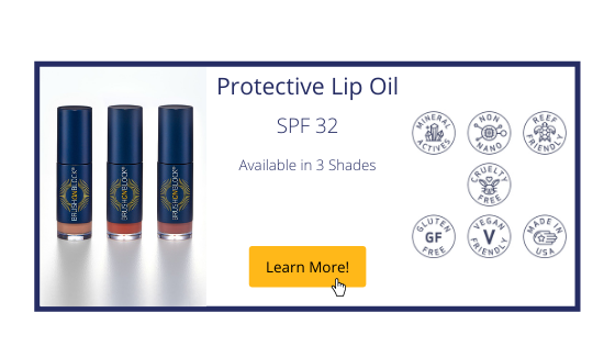 Brush On Block Protective Lip Oil Banner