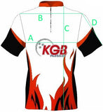 Personalised Bowling Shirt - KGB109 Brushed Metal