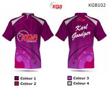 Personalised Bowling Shirt - KGB102 Pink Bubbles