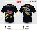 Personalised Bowling Shirt - KGB105 Gold Swirl