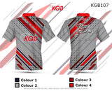 Personalised Bowling Shirt - KGB107 Grey Dot