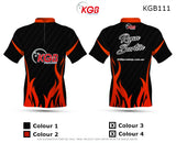 Personalised Bowling Shirt - KGB111 Flame