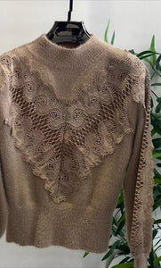 Aylin V Front Lace Detail Knitwear