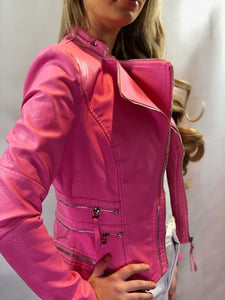 Teefa Multi Zip Pink Jacket
