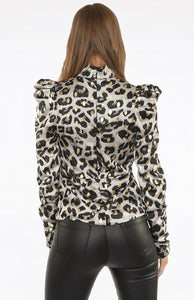 Lucy Print Shoulder Detail Blouse