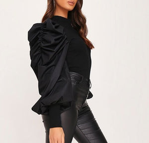 Luna Feature Sleeve Ribbed Top