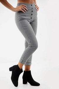 Brinley High Waisted Cigarette Pant