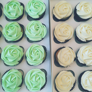 Pandan and Vanilla Cupcakes