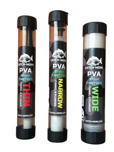 Catch-More PVA Mesh Kit, Thin 18mm with Funnel & Plunger + 7 metres of mesh