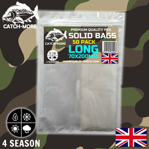 Catch-More Solid PVA Bags Long 70x200mm - 50 Pack