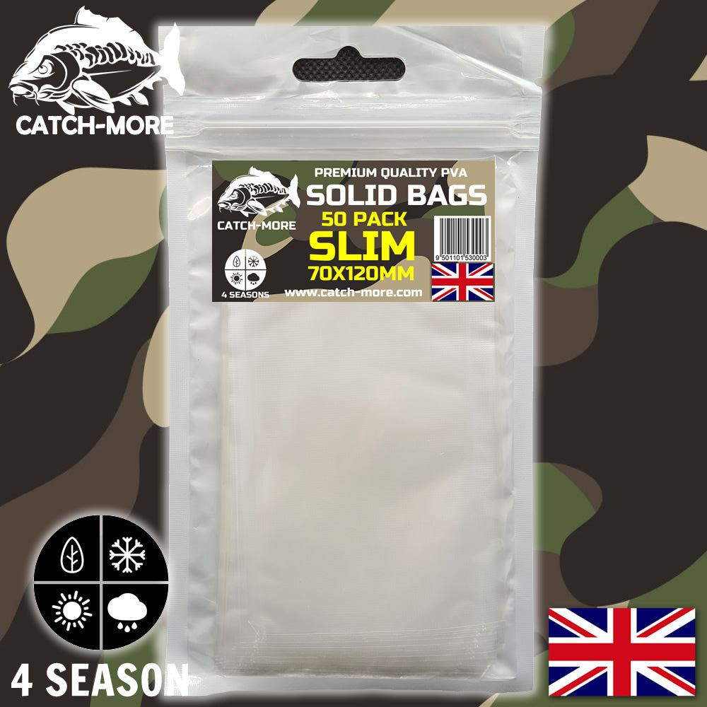 Catch-More Solid PVA Bags Slim 70x120mm - 50 Pack