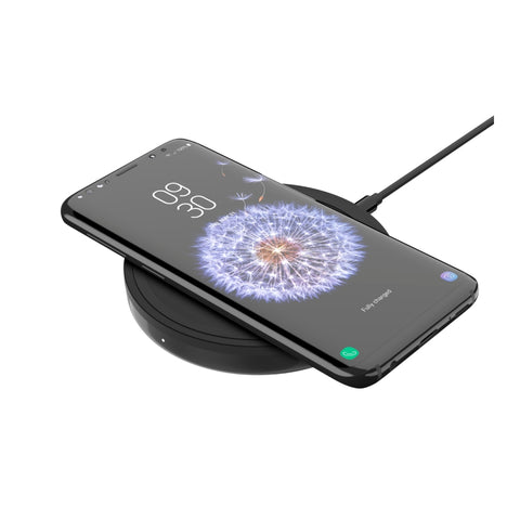 Iphone being wirelessly charged