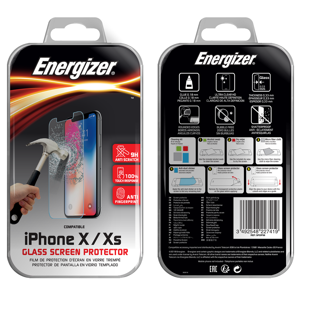 Energizer Glass Screen Protector iPhone X / Xs / 11 pro
