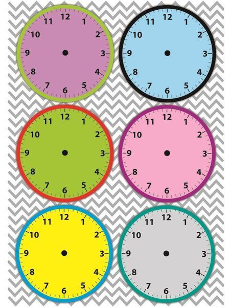 6 CLOCK FACES MAGNETIC