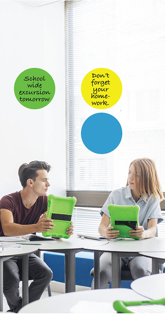 Dry Erase Dot Stickers
