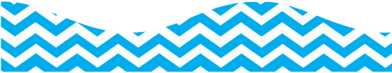 CHEVRON BLUE SCALLOP BORDER