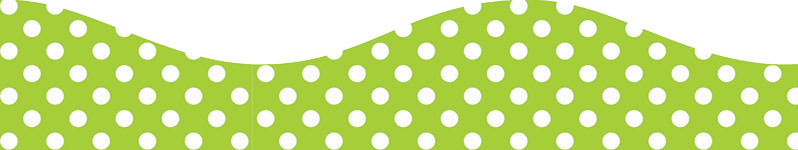 LIME DOTS BIG MAG BORDER