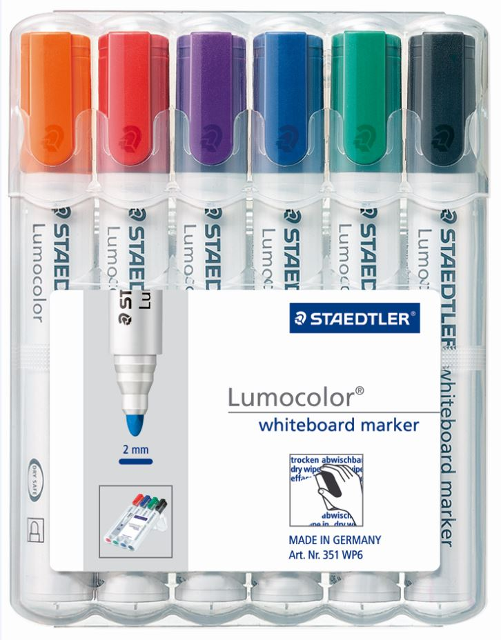 Whiteboard Markers Wallet - Assorted Colours