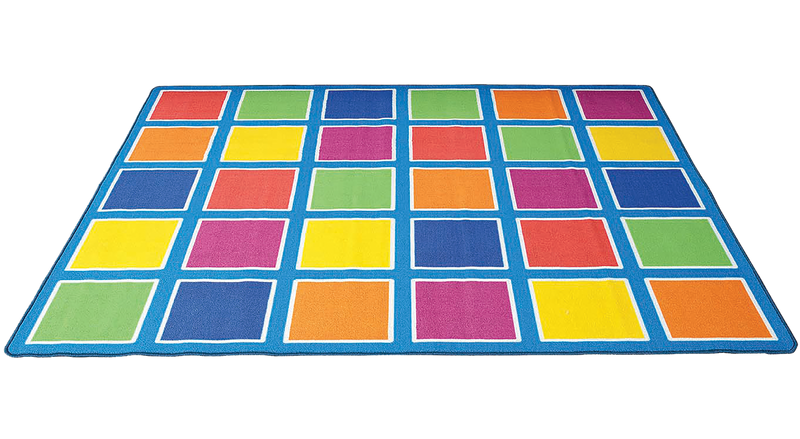 COLOUR SQUARES PLACEMENT RUG - 30 SQUARES