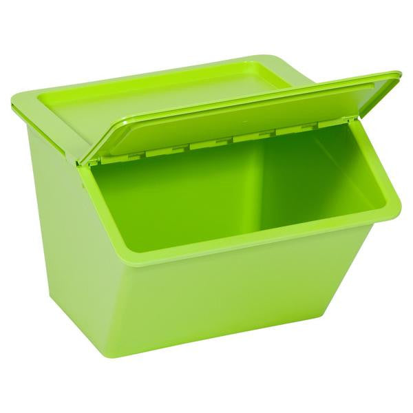 Stackable Storage Container with Flap Lid