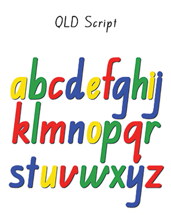 Magnetic Script Letters: QLD Style