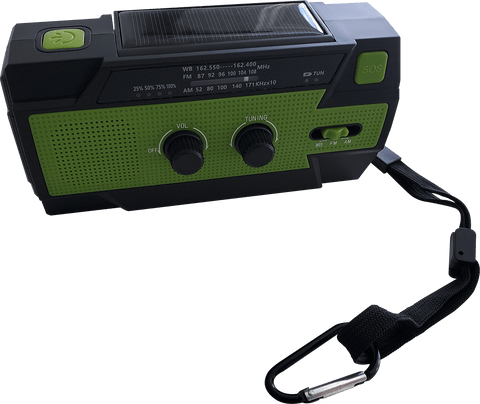 Tac Alert Survival Hand Crank Radio with 4000mAh Power Bank and NOAA Emergency Band