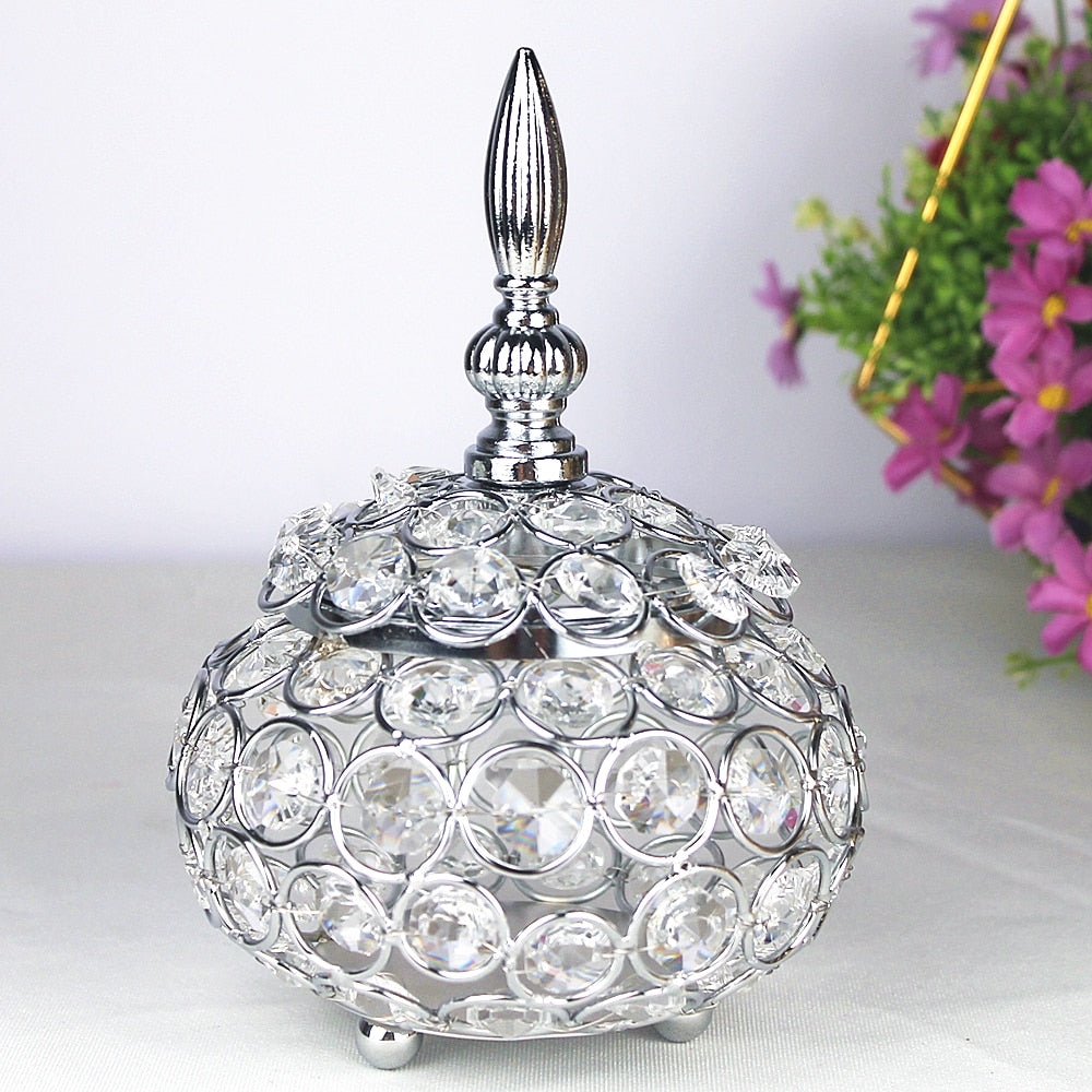 Crystal Candle Holder- Beautiful Decor Piece for Home, Party and Gifts