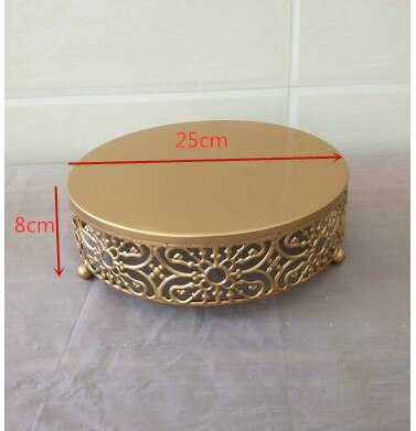 Wedding Gold Cake Tray Party Cake Stands Table Ornaments Lace Crystal Cake Plates Fruit Dessert Birthday Cake Cupcake Plates
